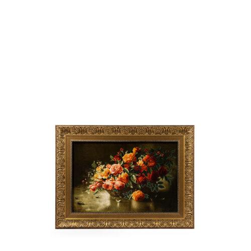 تابلو فرش دستباف طرح سبد گل کد C174
