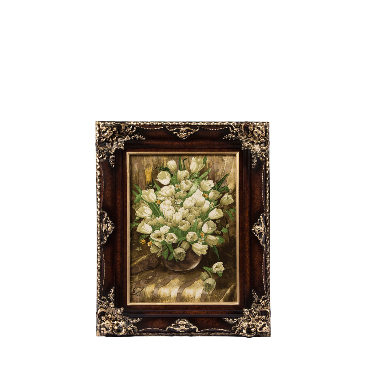 تابلو فرش دستباف طرح گل لاله کد C111